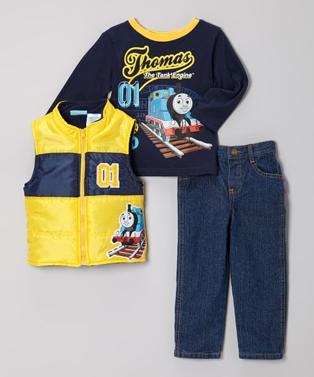 Yellow Thomas & Friends Pants Set - Toddler