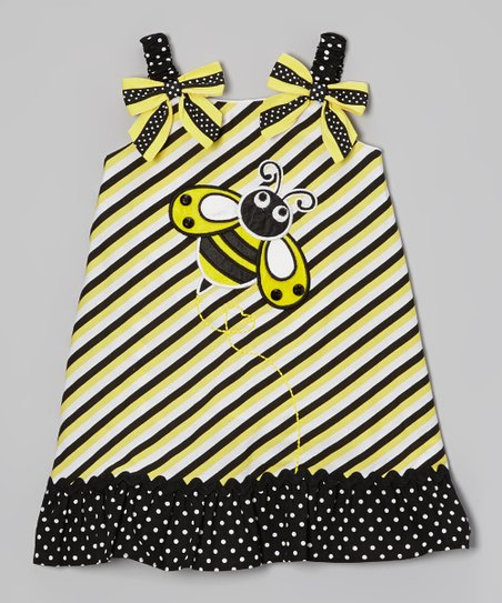 Yellow Bumblebee Swing Dress - Infant, Toddler & Girls