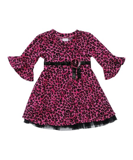 Fuchsia & Black Leopard Dress - Infant