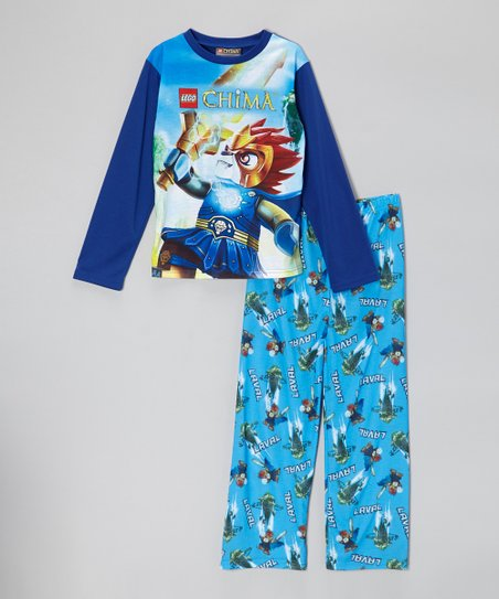 Blue LEGO Chima Laval Pajama Set - Boys