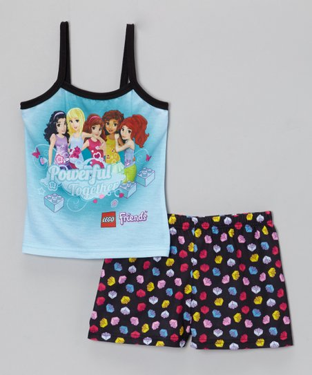 Aqua LEGO 'Powerful Together' Pajama Set - Girls