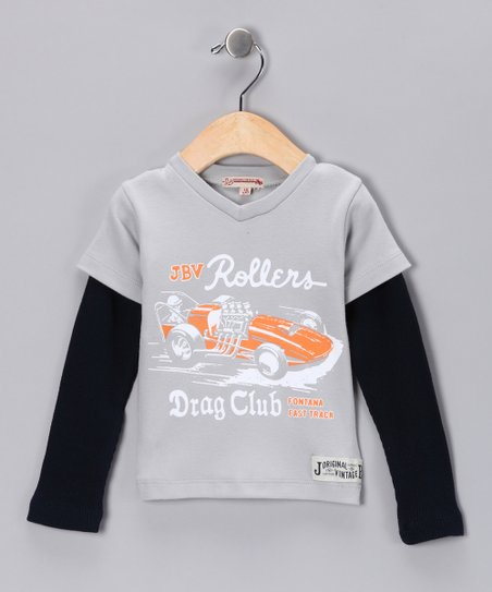 JB Original Gray Rollers Thermal Layered Tee - Infant & Boys