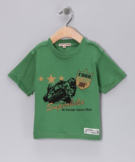 Green 'Superbike' Tee - Infant & Toddler