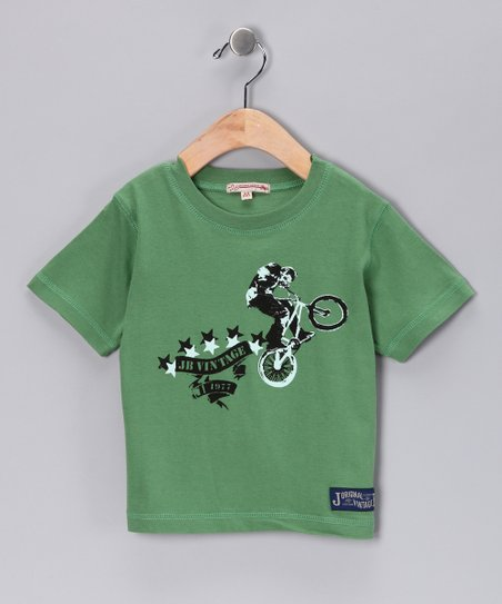 JB Original Vintage Green Five Stars Tee - Infant, Toddler & Boys