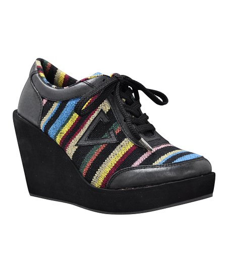 Black Acuna Sneaker Wedge