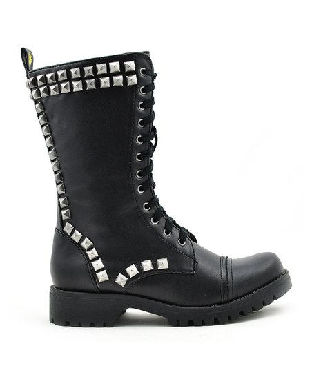 Black Heavy Metal Boot