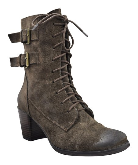 Brown Norma Lace-Up Boot