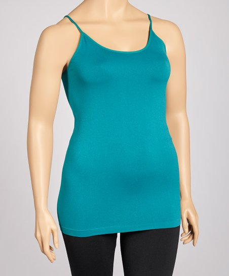 Teal Green Seamless Tank - Plus