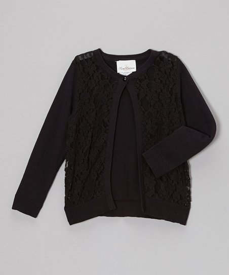 Black Lace Cardigan - Girls