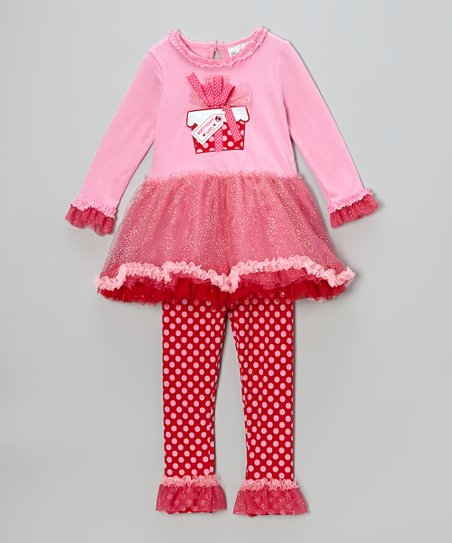 Pink 'Birthday Girl' Dress & Leggings - Infant, Toddler & Girls