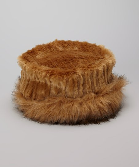 Caramel Faux Fur Hat