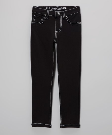 Black Straight-Leg Jeans - Toddler & Girls