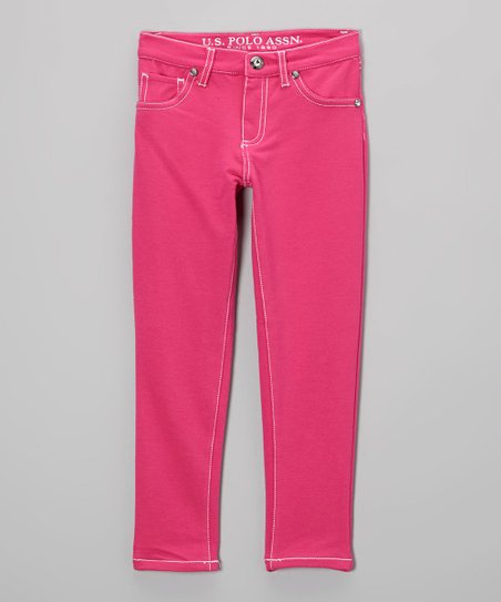 Pink Skinny Pants - Toddler & Girls