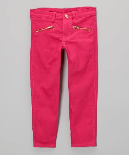 Pink Zipper Pocket Pants - Toddler & Girls