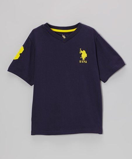 Navy 'USPA' V-Neck Tee - Toddler & Boys