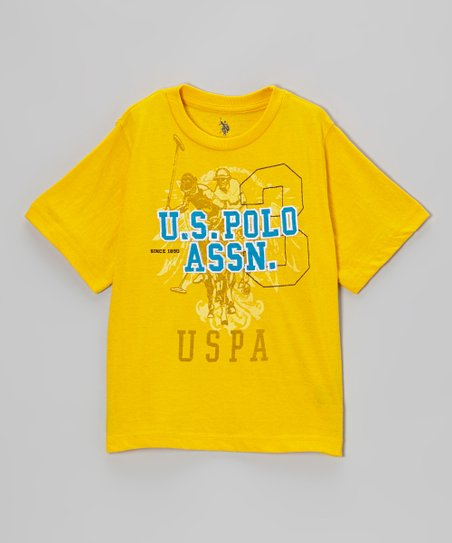 Yellow 'U.S. Polo' Tee - Boys