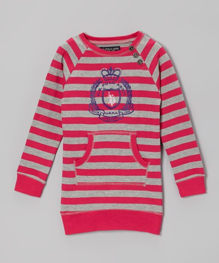 Raspberry Stripe Pocket Sweater - Toddler & Girls
