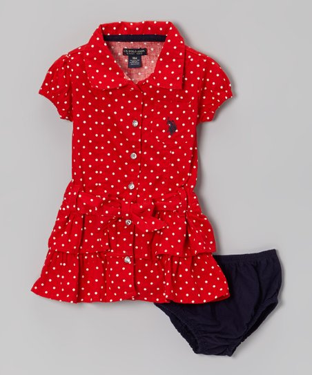 Ruby Ruffle Sash Shirt Dress - Girls