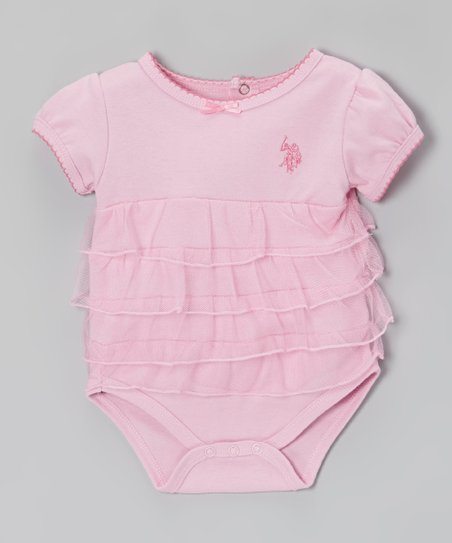 Sugar Pink Ruffle Bodysuit - Infant