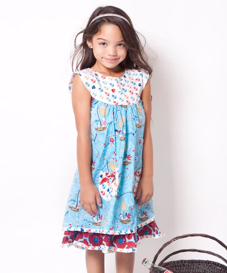 Aqua Hey Sailor Sailor Dress - Infant & Girls