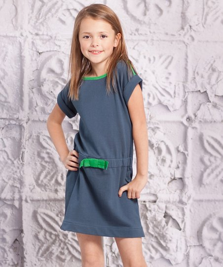 Green Mariana Dress - Toddler & Girls