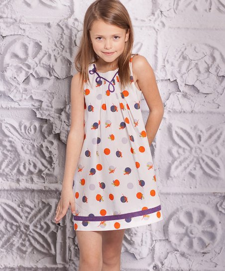 Orange & Purple Perla Dress - Infant, Toddler & Girls