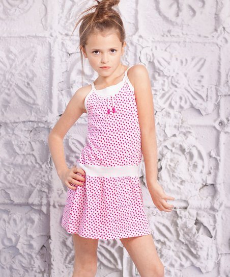 Red Polka Dot Spaggia Dress - Toddler & Girls