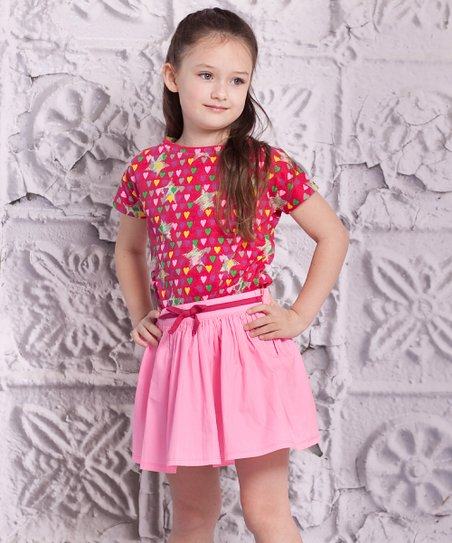 Pink Luna Top & Carina Skirt - Toddler & Girls