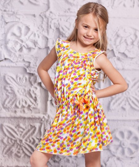 Yellow Polka Dot Alba Dress - Toddler &amp; Girls