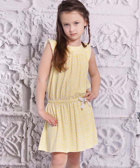 Cream Polka Dot Alba Dress - Toddler & Girls