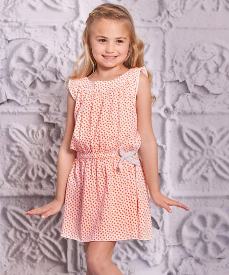 Orange Alba Dress - Infant & Toddler