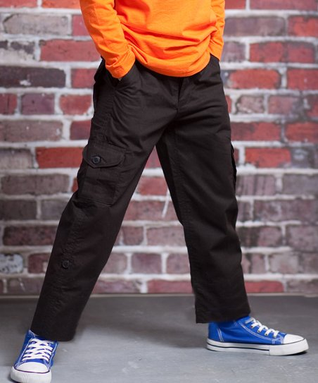 Black Vintage Camera Jackson Cargo Pants - Infant, Toddler & Boys