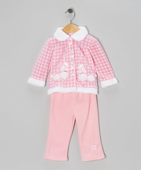Pink Poodle Jacket & Pants - Infant