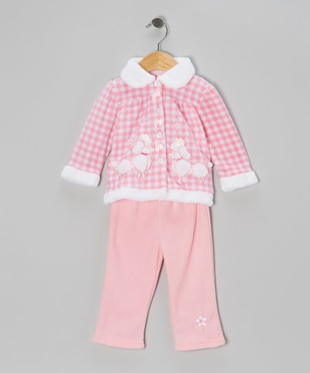 Pale Pink Poodle Jacket & Pants - Infant