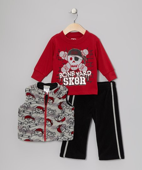 Black Pirate Vest Set - Infant & Toddler