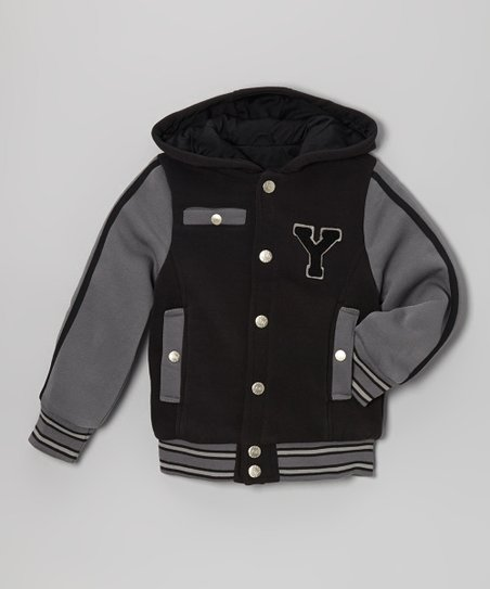 Black 'Y' Varsity Hooded Jacket - Infant, Toddler & Boys