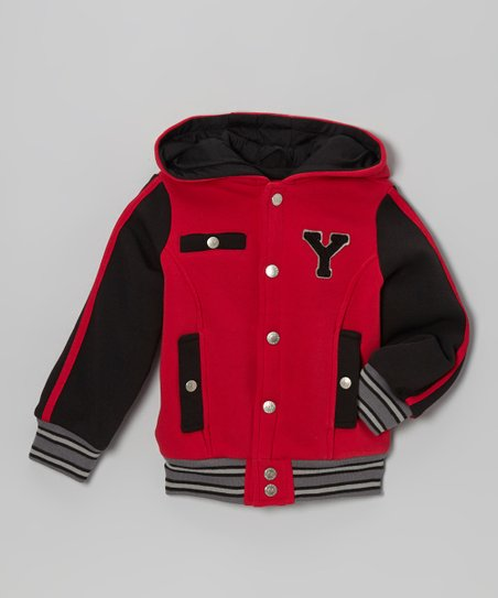 Red 'Y' Varsity Hooded Jacket - Infant, Toddler & Boys