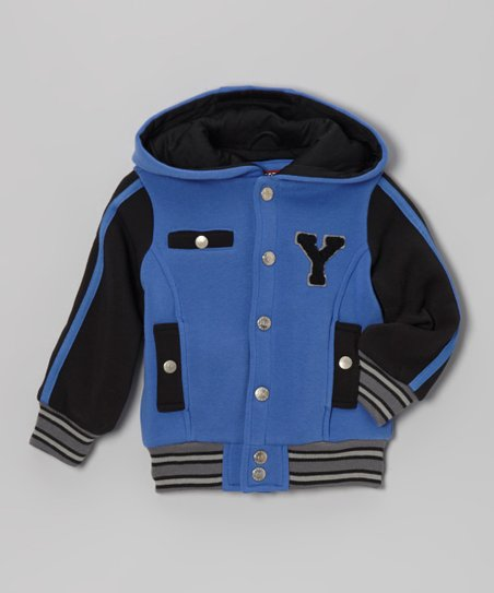 Royal Blue 'Y' Varsity Hooded Jacket - Infant, Toddler & Boys