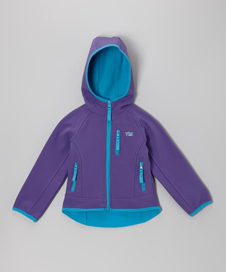 Purple Hooded Warm-Up Jacket - Infant, Toddler & Girls