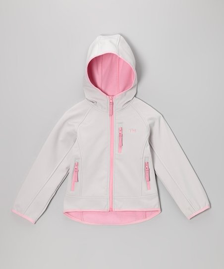 Gray Hooded Warm-Up Jacket - Infant, Toddler & Girls