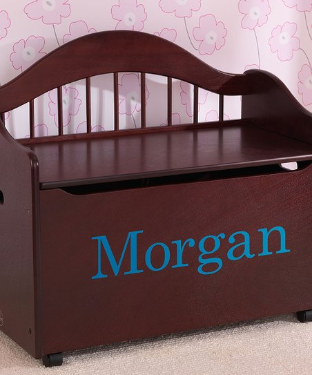 Cherry Limited Edition Toy Box with Turquoise Library Font