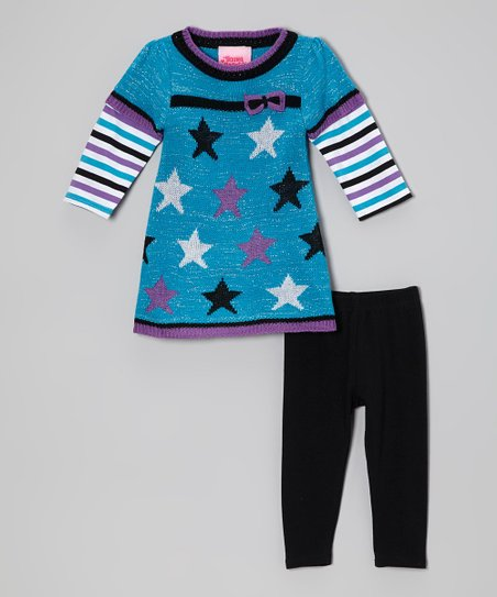 Aqua Stars Layered Tunic & Leggings - Infant & Toddler