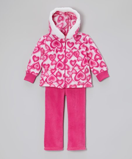 Pink Heart Hooded Jacket & Pants - Infant