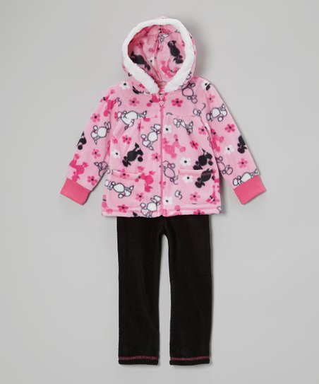 Pink Poodle Hooded Jacket & Pants - Infant