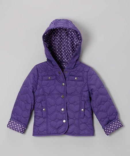Purple Heart Quilted Hooded Jacket - Infant, Toddler & Girls