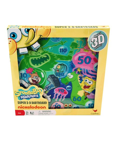 Spongebob 3-D Dart Board Set