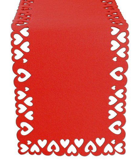 Red Heart Table Runner