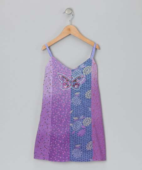 Purple Butterfly Dress - Toddler & Girls