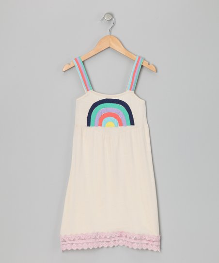 Ivory Rainbow Delight Dress - Toddler & Girls