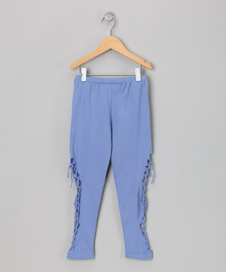 Blue Braid Leggings - Girls